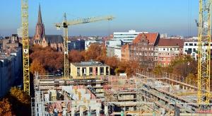 Der Klagesmarkt wird bebaut. Blick aus dem siebten Stockwerk des Gewerrkschaftshauses Herbst 2015. Foto Michael Pechel