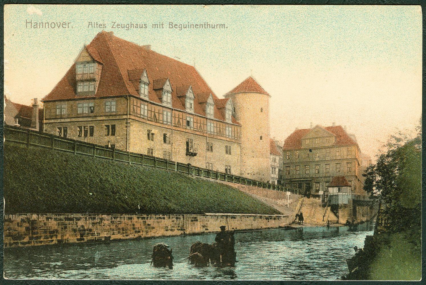 Ehemaliges Zeughaus am Hohen Ufer, zeitgenössische Postkarte, um 1900. Privatbesitz