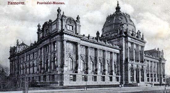 Provinzialmuseum, heute Landesmuseum Hannover. Ansichtskarte um 1900, Privatbesitz