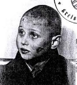 Foto von Hermann Federmann aus einem amtlichen Dokument der Ortspolizeibehörde Gadderbaum, 1940. Datenbank Yad Vashem
